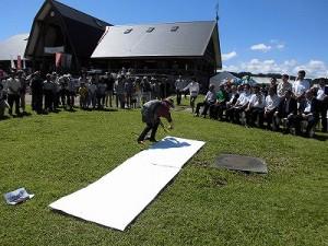 六呂師高原アルプス音楽祭2014 パフォーマンスを始めるふみんちゅさん/どこまでもアマチュア