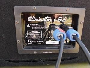 六呂師高原アルプス音楽祭2014 Electro-Voice Eliminator-i Subの入力プラグ/どこまでもアマチュア