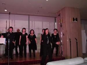 もう最高!クリスマスコンサート2014 in 勝山ニューホテル リードボーカルの振りが大きくなってきたゴスペル ウィンディ フレンズ/どこまでもアマチュア
