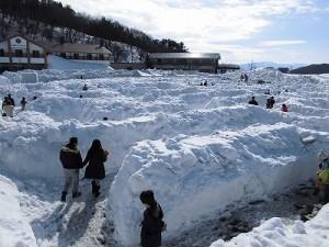 さかだに雪まつり 雪の迷路全景/どこまでもアマチュア
