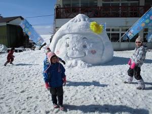 さかだに雪まつり 雪像づくりコンクール さかずきんちゃんの雪像/どこまでもアマチュア