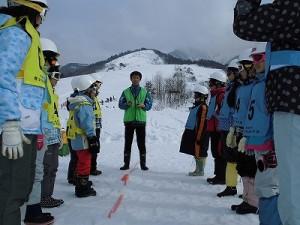 さかだに雪まつり ゲーム開始前のルール説明/どこまでもアマチュア