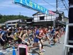 第51回越前大野名水マラソン/どこまでもアマチュア スタートした5キロコースのマラソンランナー達