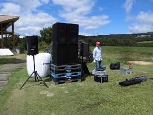 六呂師高原アルプス音楽祭2015 その他ステージ側機材の積み下ろし/どこまでもアマチュア