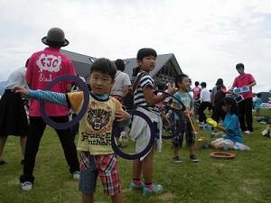 六呂師高原アルプス音楽祭2015 藤島高校ジャグリング部 すでにポーズが決まってしまっているB少年/どこまでもアマチュア