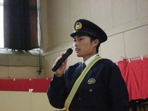 平成27年度下庄地区敬老会 大野警察署員による講話/どこまでもアマチュア