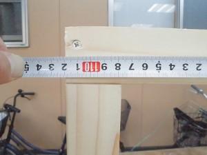 日曜大工教室~我流か自己流か編~ 背面の寸法測定/どこまでもアマチュア