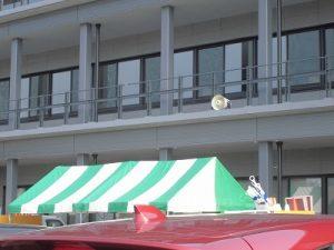 第52回越前大野名水マラソン 市役所2階のスピーカー/どこまでもアマチュア