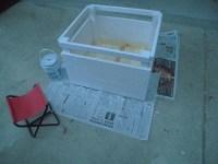 ペンキ塗り開始