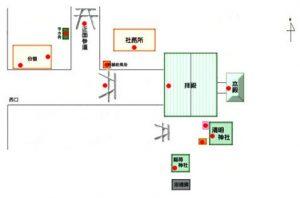 木田神社境内配置図