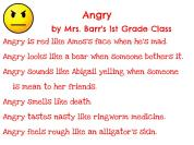 Mrs. Barr's 1st Grade - Angry