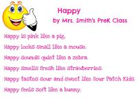 Mrs. Smith's PreK - Happy