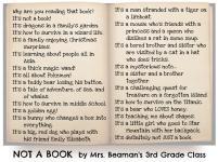 Not a Book by Mrs. Beaman's Class
