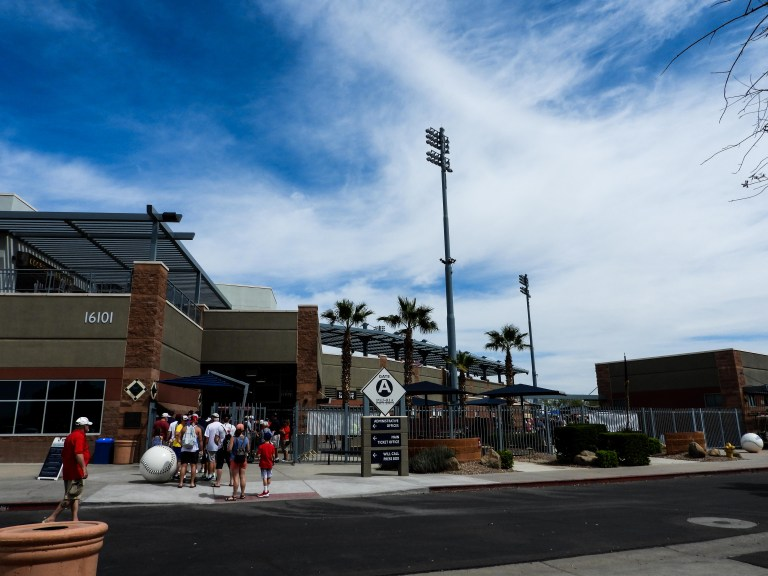 Gate A at the Peoria Sports Complex