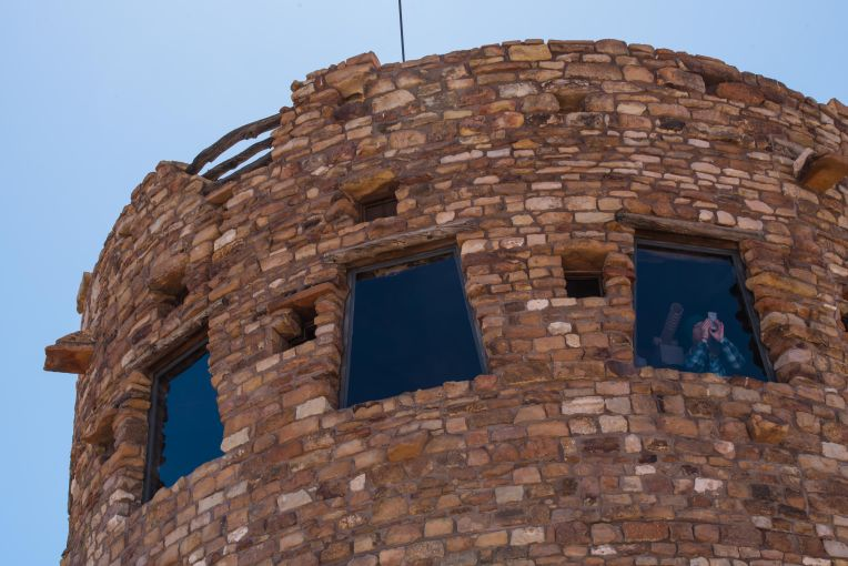 A close up view of the Indian Watchtower at Desert View.