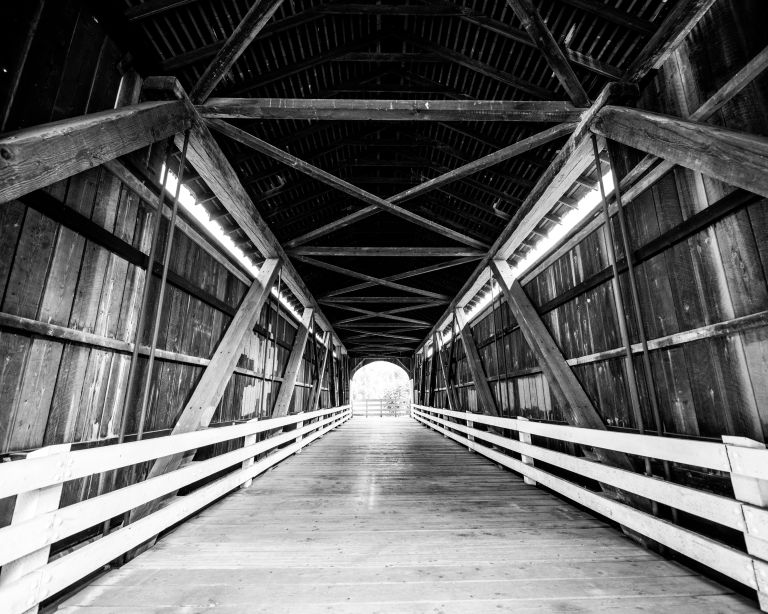 The interior of the Currin Bridge.