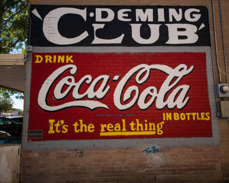 This advertisement looks much newer, and sponsored by Coca-Cola.