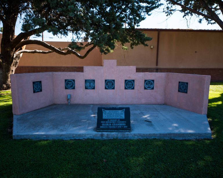 A close up of the Ladies Auxiliary memorial.