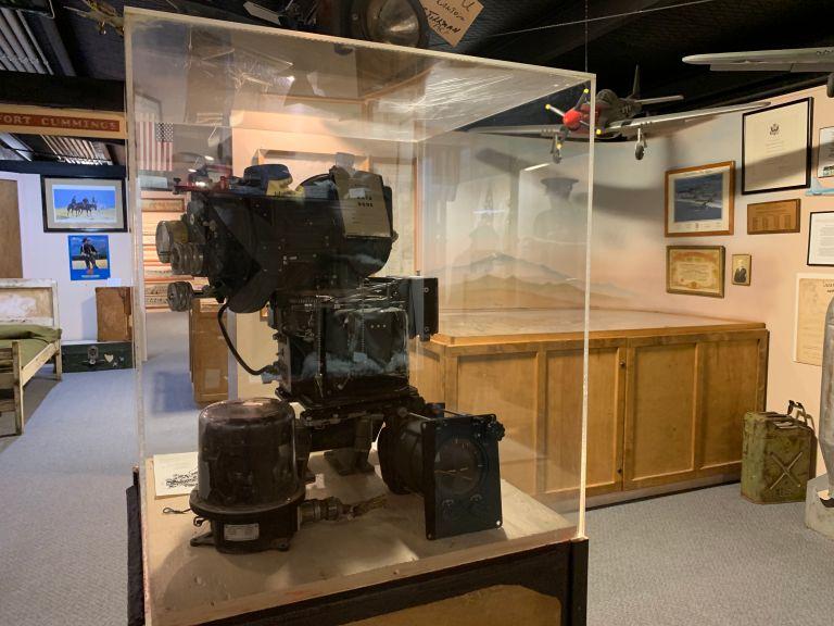 A Norden Bombsight in the War Memorabilia room.