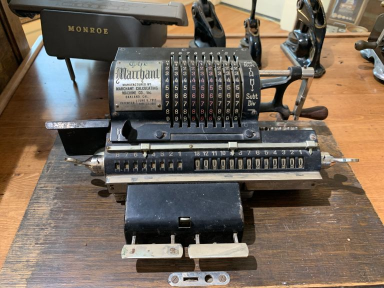 A Marchant calculating machine.