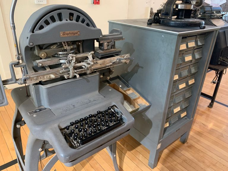 A Graphotype machine.