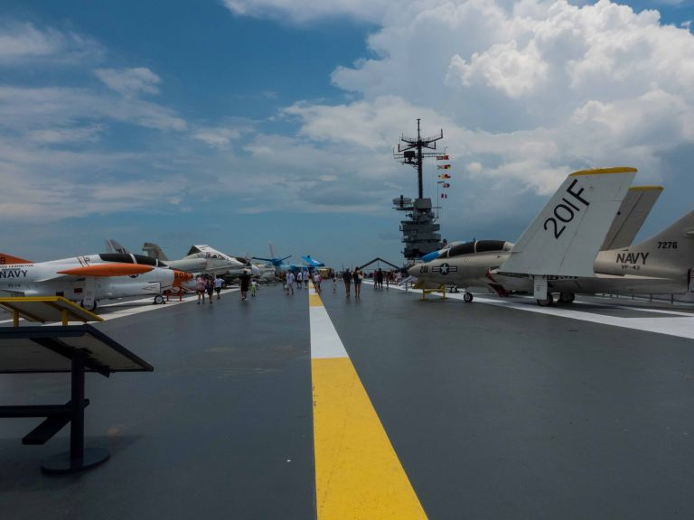 A view down the Flight Deck.