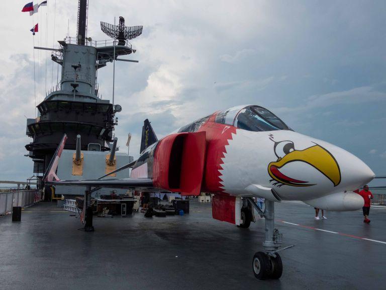 Side view of the F-4A Phantom II.