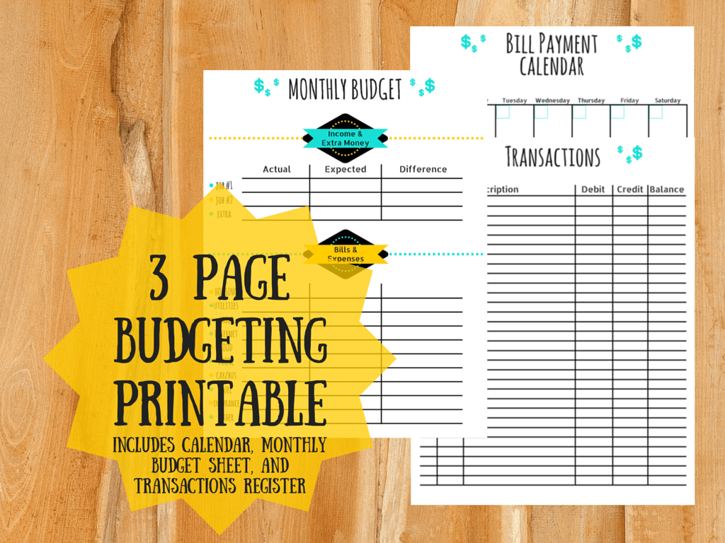 Planner Printables Keep Your Schedule And Budget In Order