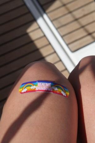 Mein Hai-Fehlalarm-Pflaster für mein aufgeschürftes Knie