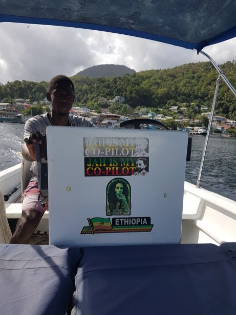 Water taxi driver St Lucia