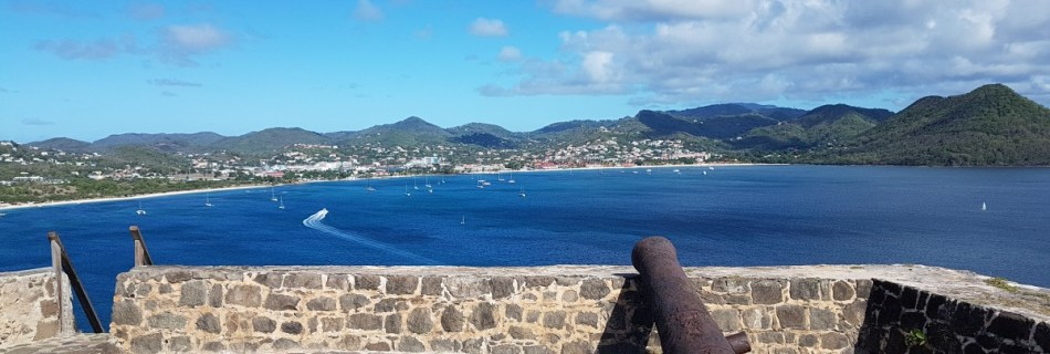 Canons at Fort Rodney, Gros Islet, Pigeon Island