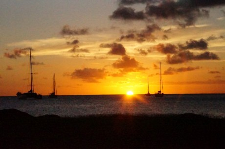 Sunset at Bay Guesthouse, Gros Islet, St Lucia