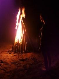 Donnerstag Abend bei der Lagerfeuerparty in Castara