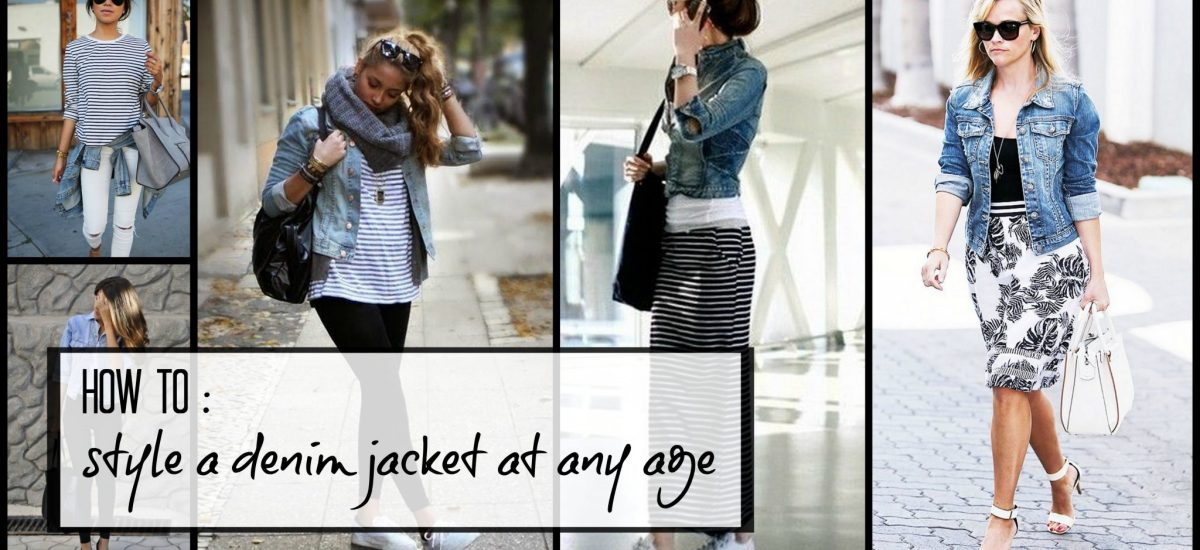 How to wear a denim jacket at any age