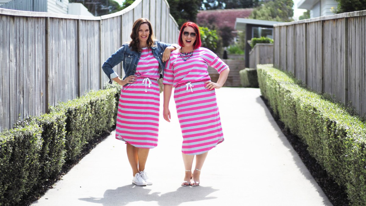 Two Girls And A … Striped Dress