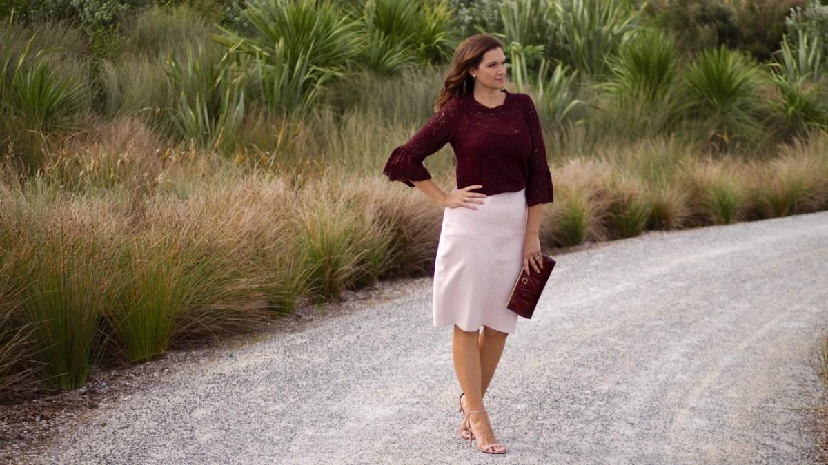 Farmers blush pencil skirt_Chasing Cait_1