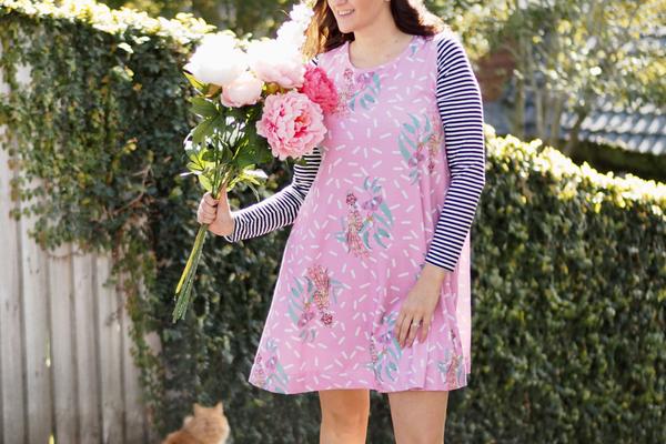 1 item 4 Ways: {The Print Swing Dress}