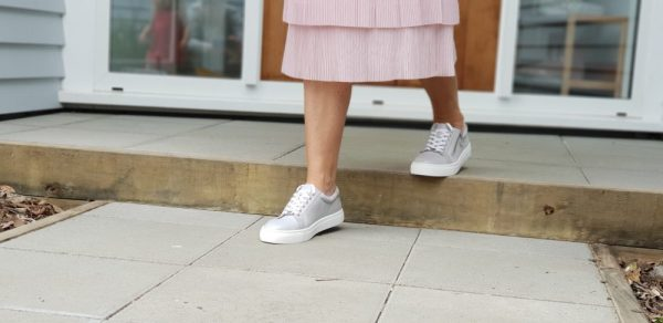 Style Lesson: How to style trainers with a skirt or dress