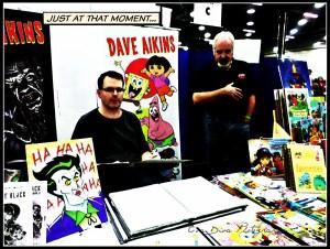 Dave Aikins & Tom Cook. Aikins is an illustrator for Spongebob & Dora the Explorer. Cook was an illustrator for He-Man, She-Ra, Scooby-doo, the Smurfs, etc. etc.