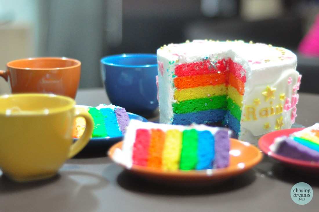 The Royal Piccadilly Rainbow Cake