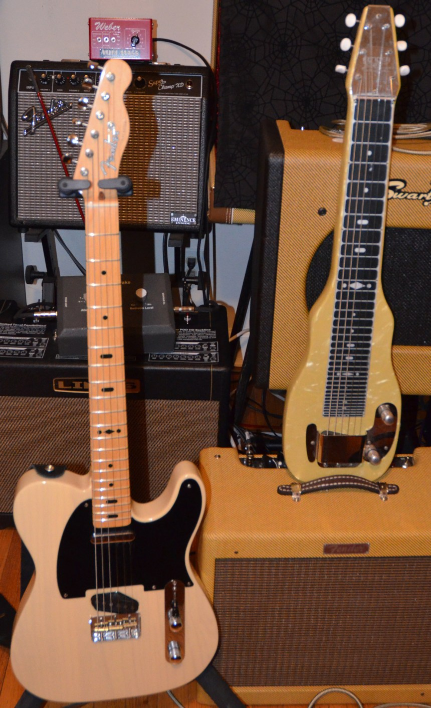 GE Smith Telecaster & 1950s Fender Champion Lap Steel