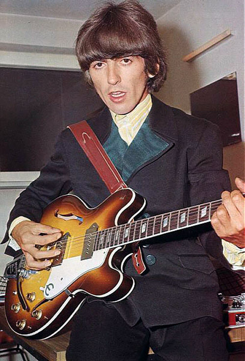 George with this Epiphone Casino