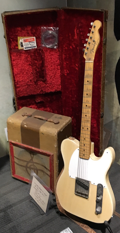 Guitar and amp owned and used by Luther Perkins