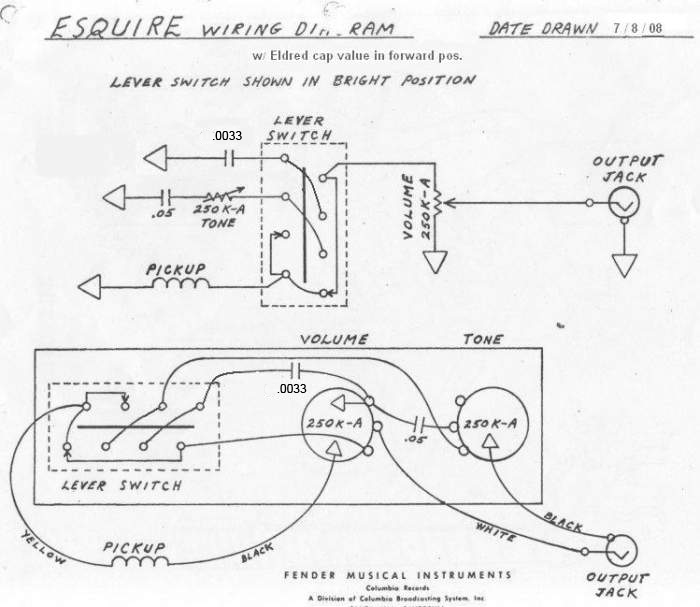 Esquire Wiring Diagram Humbucker : Fender esquire wiring diagram images
