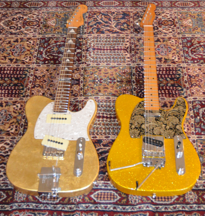 Will Ray Hellecaster with Hipshot B-bender and Fender Baja Tele with Timara B/G Bender