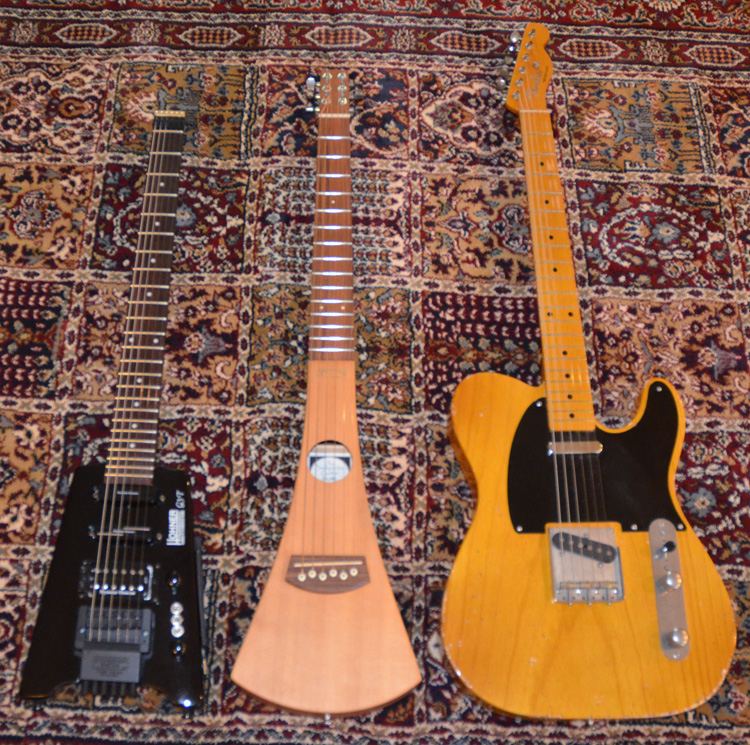 Hohner GT3 far smaller than Telecaster and even a Martin Backpacker guitar