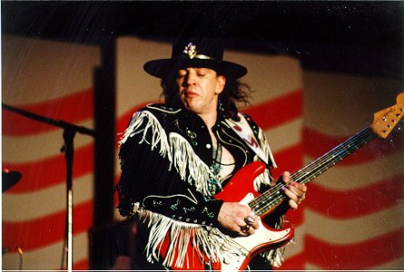 Stevie Ray Vaughan playing his Red Stratocaster