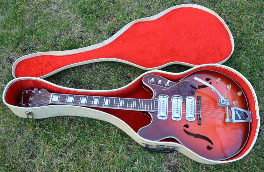 1966 Harmony H78 with Bigsby and three pickups