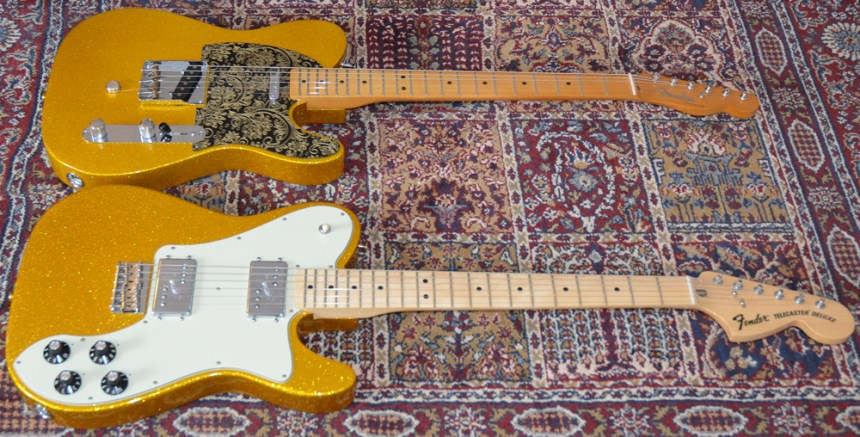 FSR Limited Edition Vegas Gold Telecasters
