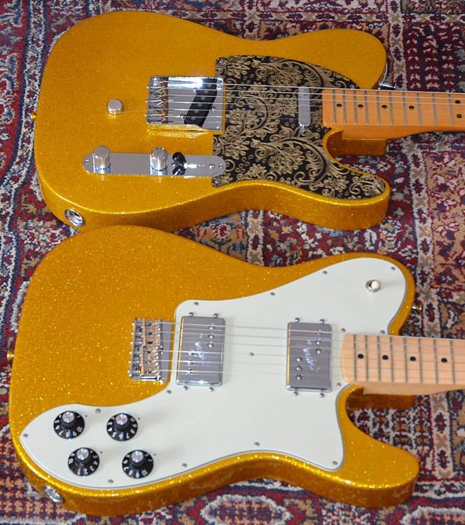 Telecaster Deluxe and Classic Player 50s Baja Telecaster with B-Bender installed